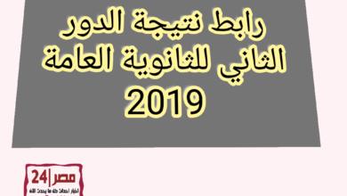 نتيجة الدور الثاني للشهادة الثانوية العامة للعام الدراسي 2019/ 2020،