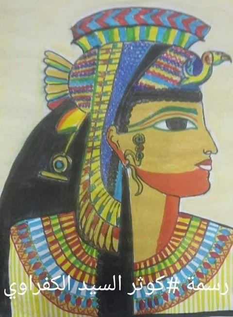 كوثر السيد الكفراوي من الفن للابداع برسومات فنية وبورترية 1